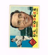 1960 #295 GIL HODGES LOS ANGELES DODGERS TOPPS BASEBALL CARD in Morris, Illinois