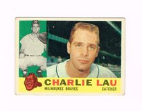 1960 #312 CHARLIE LAU MILWAUKEE BRAVES TOPPS BASEBALL CARD in Chicago, Illinois