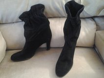 Black Suede Leather  Dress Boots in St. Charles, Illinois