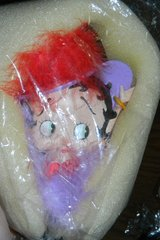 NEW Betty Boop Red Hat Society Purple #2 Hair Quill Brush in Houston, Texas
