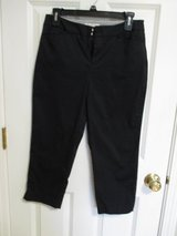 Coldwater Creek Capri pants in Black, size 4, Natural Fit - like new!!! in Bolingbrook, Illinois