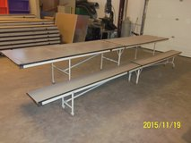 Banquet/Special Events Folding Tables and Benches with Storage Unit For Sale in Alamogordo, New Mexico
