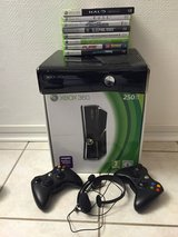 xBox 360 (German 220V) with 9 Games in Wiesbaden, GE