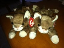 """TY """"POUNCE"""" BROWN CAT BEANIE BABY in Cherry Point, North Carolina"""