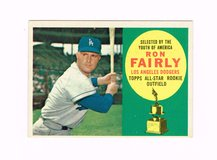 1960 #321 RON FAIRLY LOS ANGELES DODGERS ALL-STAR ROOKIE TOPPS BASEBALL CARD in Joliet, Illinois