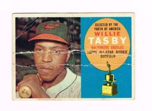 1960 #322 WILLIE TASBY BALTIMORE ORIOLES ALL-STAR ROOKIE TOPPS BASEBALL CARD in Joliet, Illinois