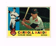 1960 #341 CARROLL HARDY CLEVELAND INDIANS TOPPS BASEBALL CARD in Morris, Illinois