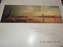 Poster of NYC Skyline with Statue of Liberty and Twin Towers in Fort Belvoir, Virginia