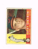 1960 #348 BARRY SHETRONE BALTIMORE ORIOLES ROOKIE TOPPS BASEBALL CARD in Chicago, Illinois