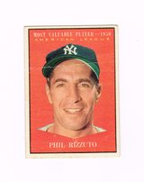 1961 #471 PHIL RIZZUTO 1950 A.L.MOST VALUABLE PLAYER YANKEES TOPPS BASEBALL CARD in Morris, Illinois