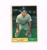 1961 #493 DON ZIMMER CHICAGO CUBS UER TOPPS BASEBALL CARD in Morris, Illinois