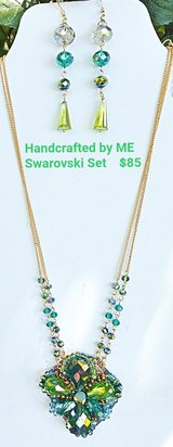 Handcrafted Swarovski Crystal Set Necklace & Earrings in Warner Robins, Georgia