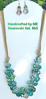 Handcrafted by ME Swarovski Set Necklace & Earrings in Perry, Georgia