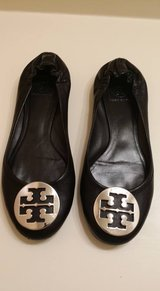REDUCED!! Size 8.5 Tory Burch Black Flats! in The Woodlands, Texas