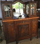 gorgeous Art Deco dining room hutch with original bevelled mirrors in Ansbach, Germany