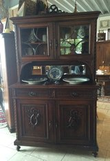 Art Nouveau dining room hutch with bevelled glass in Ansbach, Germany