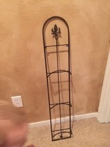 Metal Fleur de lis hanging plate or picture frame holder in Conroe, Texas