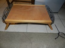 Wood and metal lap table in Aurora, Illinois