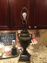 Large old world trophy lamp in Conroe, Texas