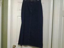 New - Fore Warned Navy Blue Denim Skirt w/Deep Side Splits in Eglin AFB, Florida