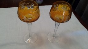 Marsala Hock Wine Glasses-Gold in Beaufort, South Carolina