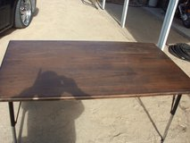 oak table top metal legs in Yucca Valley, California