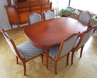 Fine Warrings Cherrywood Diningroom Table with Chairs in Ramstein, Germany