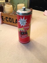 Coca-Cola drinking straw tin container in Conroe, Texas