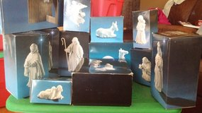 14 piece Nativity Set white porcelain in Travis AFB, California