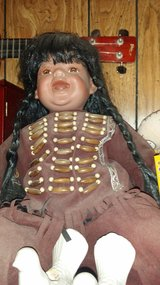 Indian Doll in brown outfit in Alamogordo, New Mexico