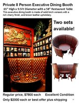 Private 8 Person Dining Booth in Naperville, Illinois