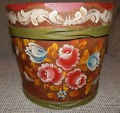South Tyrol Hand-Painted Wood Bucket in Stuttgart, GE