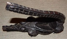Hand-Carved, Wood African Crocodile in Stuttgart, GE