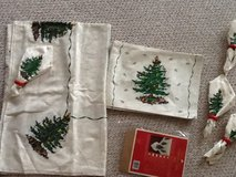 Spode Christmas Tablecloth, napkins, placemats in Lockport, Illinois