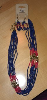 NWT - Beaded Necklace & Earrings in Beaufort, South Carolina