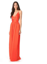 One By Contrarian tangerine Babs Bibb Maxi Dress in San Diego, California