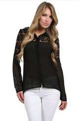 LUCIA LACE BLOUSE in Miramar, California