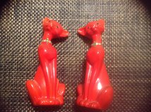 Vintage Brinn's red ceramic Cat figurines ceramic in Camp Lejeune, North Carolina