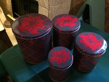 Christmas Tin Canisters in Lockport, Illinois