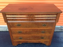 Antique 1800's Mahogany Crotch and Figured Burl Chest in Cherry Point, North Carolina