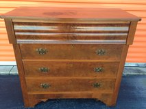 1800's Mahogany Crotch and Figured Burl Chest in Camp Lejeune, North Carolina