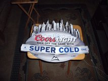 COORS LIGHT METAL SIGN NEW in Barstow, California