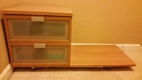 2 drawer rolling TV stand in Fort Campbell, Kentucky