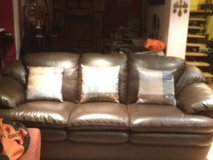 Like New Leather Couch and Love Seat in Ramstein, Germany