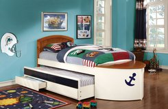 Children's sailor/anchor bed (trundle bed) in Fort Irwin, California