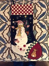 Snowman Stocking in Aurora, Illinois