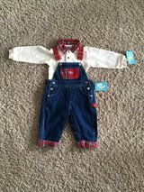 Boys 12 months-Overall Outfit-NWT in Bolingbrook, Illinois