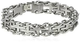 CLEARANCE***BRAND NEW***Men's VERY MASCULINE S/S Railroad Bracelet in Houston, Texas