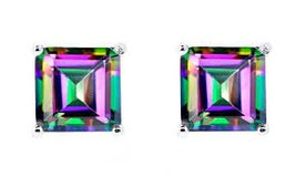 ***BRAND NEW***2.00 CTW Mystic Topaz Earrings in Sterling Silver*** in Houston, Texas
