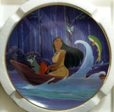 """Pocahontas Collectors Plate, """"Just Around The Riverbend"""" Plate #3724A in Alamogordo, New Mexico"""
